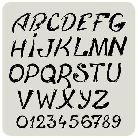Hallowen Hand drawn Alphabet Grange Set Vector Vector