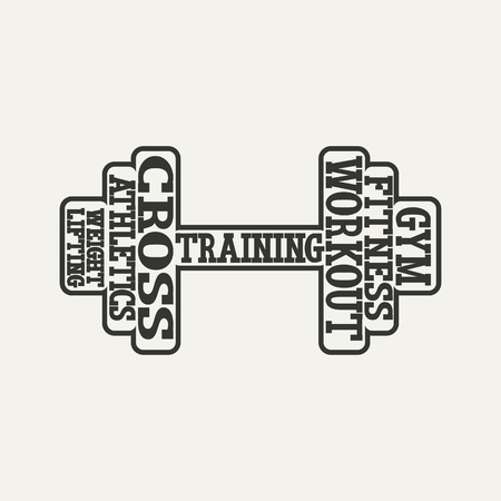 dumbbells from words logo
