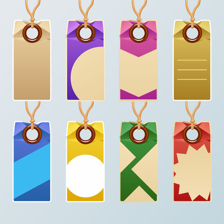 Set of color labels and tags . Vector illustration Vector