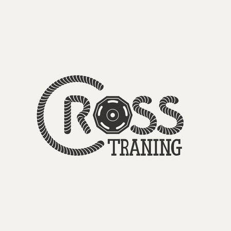 Cross training fitnes. Vector illustration. Boxing emblem
