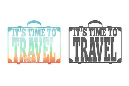 suitcase: Suitcase. Travel black and white.  Illustration