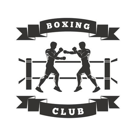 ringe: zwei Männer in den Ring Boxen. Auf dem Band zeigt Boxing Club Illustration