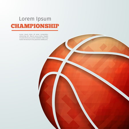 Basketball abstract geometric background with polygons.  Illustration
