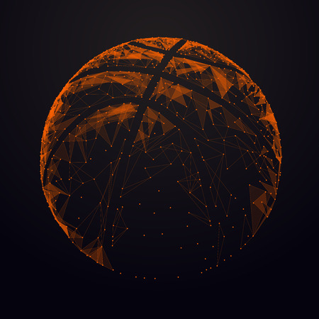 Abstract vector basketball ball.