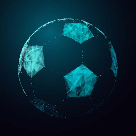 soccer sport: Abstract football ball.