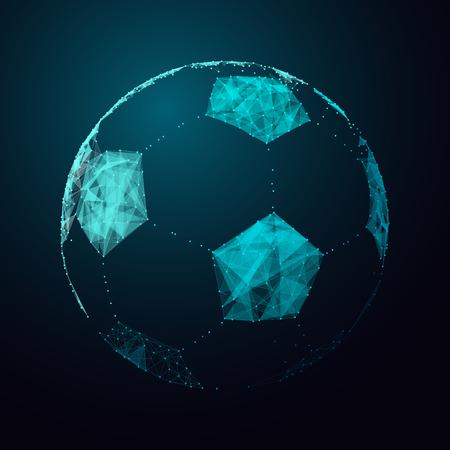 futbol soccer: Bola abstracta de f�tbol.