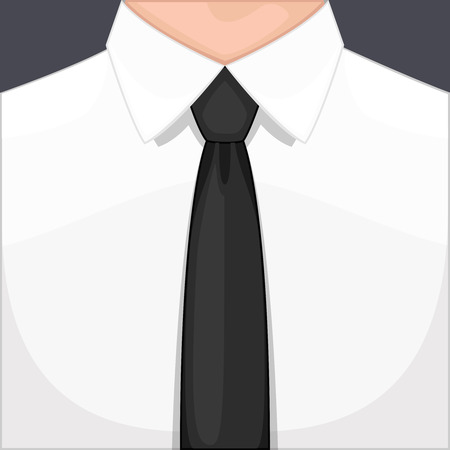 dress coat: A man dressed in a tie. Digital vector illustration. Flat design Illustration