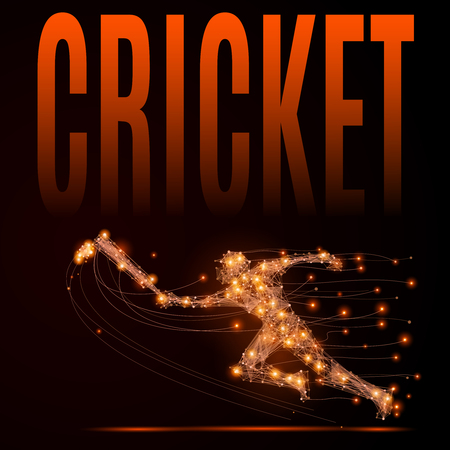 cricketer: Abstract cricket background.