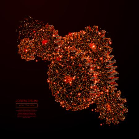 Abstrakte Breizeile und Punkt übersetzt Art auf dunklem Hintergrund mit einer Aufschrift. Sternenhimmel oder Weltraum, bestehend aus Sternen und dem Universum. Vektor-Illustration Standard-Bild - 77976097