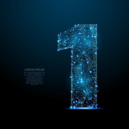 image abstraite d & # 39 ; un numéro sous une forme de ciel étoilé Vecteurs