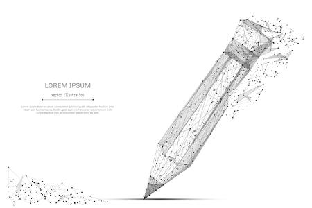 Zurück zur Schule. Abstrakte Breizeile und Punkt Pancil auf Hintergrund mit einer Aufschrift. Sternenhimmel oder Weltraum, bestehend aus Sternen und dem Universum. Vektorbildung Abbildung. Standard-Bild - 84742677
