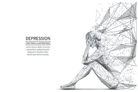 Depression low poly banner template.