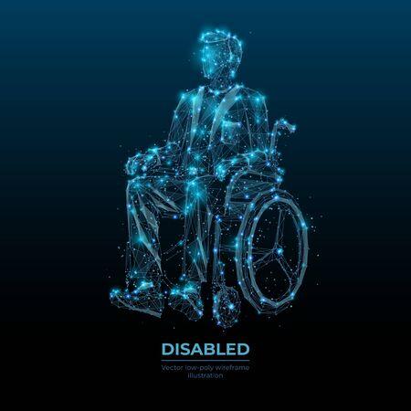 An adult man in a wheelchair.