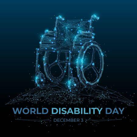 Abstract wheelchair on dark