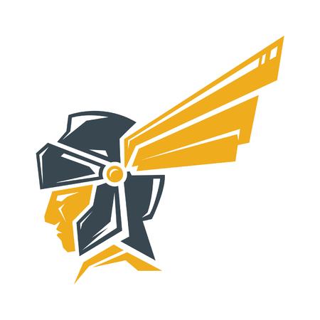 Concepto de logotipo de Guerrero