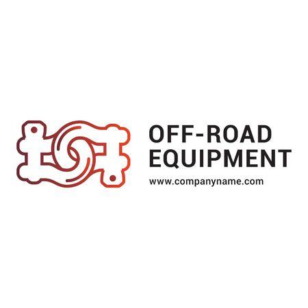 shackle: Shackle off-road logotype. Illustration