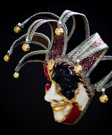 Italian casnova mask from venice photo