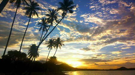 'koh samui': Sunset at Koh samui island thailand Stock Photo