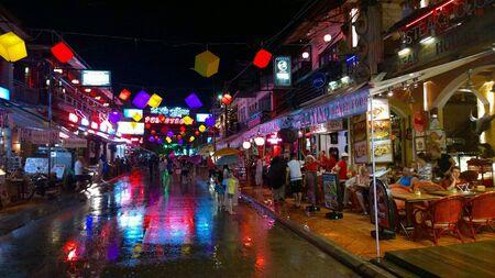 La vida nocturna en Siem Riep Camboya