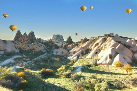 Hot air balloon in capadocia, turkey
