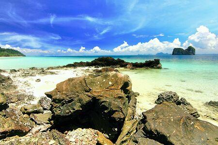 trang: Paradise beach at koh ngai island ,trang Thailand Stock Photo