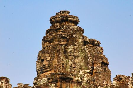 thom: Angkor thom of UNESCOs world heritage in Siem Reap, Cambodia