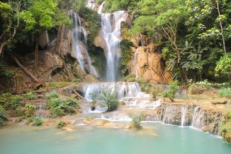 tier: Tat Kuang Si Waterfalls is a three tier waterfall of Luang Prabang ,Laos