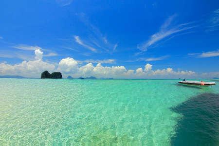 trang: Paradise beach at trang city, thailand