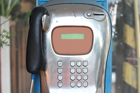 payphone: The Public telephone on a street in Thailand