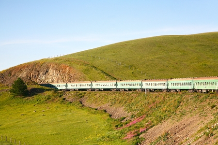 Trans-Siberian Railway from beijing china to ulaanbaatar mongolia