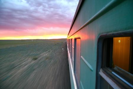 中国北京からウランバートルのモンゴルへの Trans シベリアの鉄道