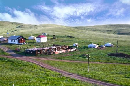 ウランバートル、モンゴル、シベリア鉄道からの眺め