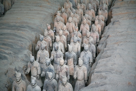 huang: The Terracotta Army is a collection of terracotta sculptures depicting the armies of Qin Shi Huang, the first Emperor of China Editorial