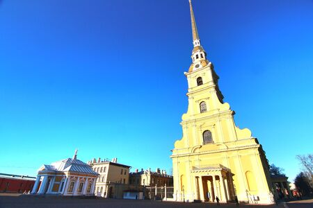 The church at Peter and Paul Fortress in saint petersburg ,Russia