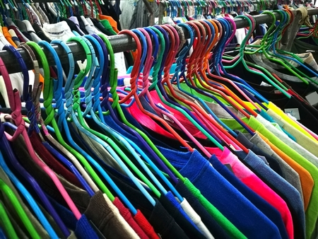 The Secondhand clothes in the market