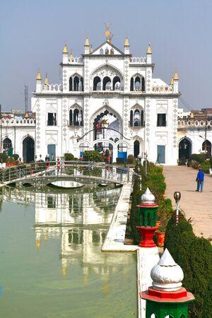 Chota Imambara, is an monument located in the city of Lucknow, Uttar Pradesh, India Stock Photo