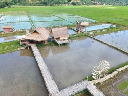 The  bird eye view of chiang dao city , chiangmai Thailand