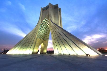 Azadatoren gelegen aan het Azadi-plein in Teheran, Iran Stockfoto