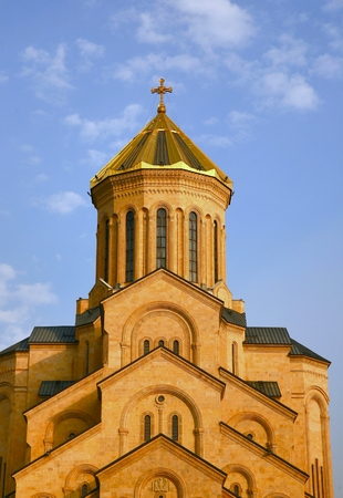 Holy Trinity Cathedral of Tbilisi ,the capital of Georgia Stock Photo