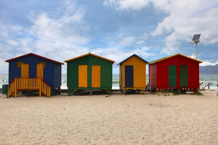 Muizenberg  is a beach-side suburb of Cape Town, South Africa Stock Photo