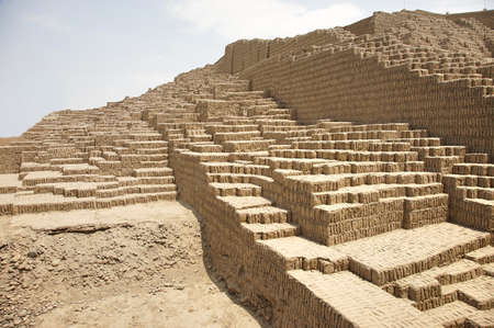 Huaca Pucllana is a great adobe and clay pyramid located in the Miraflores district of central Lima, Peru Editorial