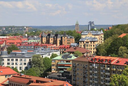 The high angle view of the Gothenburg, Sweden