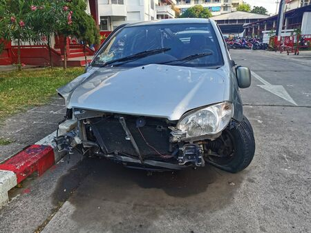 The car accident on a street