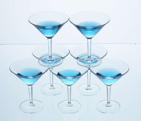 Martini Glass Pyramid Isolated photo