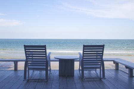 Rocking Chair on the beach photo