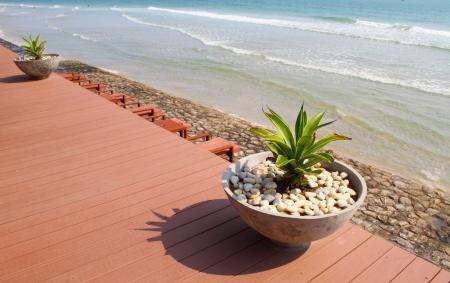 Flowerpot on the Beach photo