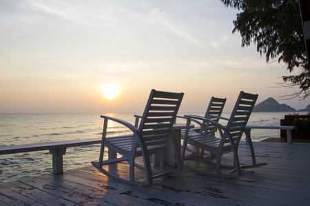 rocking: Rocking Chair at the terrace, Sunrise
