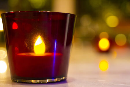Candle in the glass photo