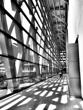 architecture: Modern interior office building Stock Photo