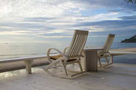 rocking chair: Rocking Chair at the terrace, Sunrise